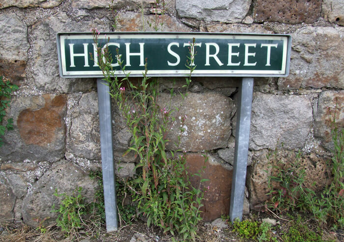 Declining High Street footfall